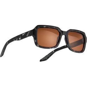 100% Rideley Glasses, marrón/rojo